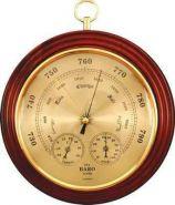 Барометр ПБ-08 03 с термометром и гигрометром (корпус-дерево, диаметр.240 197мм)